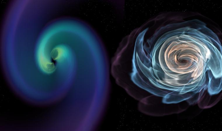 Detectan ondas gravitacionales provenientes de la colisión de dos estrellas de neutrones